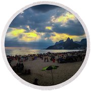 Ipanema Beach Round Beach Towel
