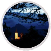 Jamnik Church Of Saints Primus And Felician Round Beach Towel
