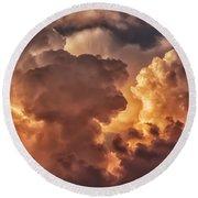 Thunderhead At Sunset Round Beach Towel by Thomas R Fletcher