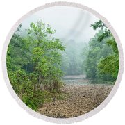 Round Beach Towel featuring the photograph Williams River Summer Mist by Thomas R Fletcher