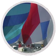 Bay Colors Round Beach Towel