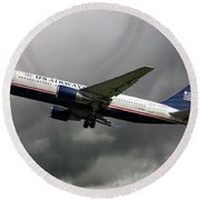 American Airlines Boeing 767-200 Round Beach Towel