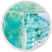 Blue Tiles Round Beach Towel