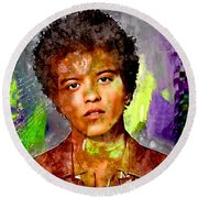 Bruno Mars Round Beach Towel
