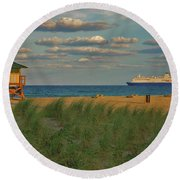 Round Beach Towel featuring the photograph 13- Cruising In Paradise by Joseph Keane