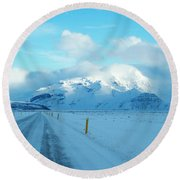 Iceland Round Beach Towel