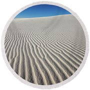 The Unique And Beautiful White Sands National Monument In New Mexico. Round Beach Towel