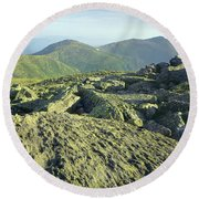 Round Beach Towel featuring the photograph 135706 View From Mt. Washington Nh by Ed Cooper Photography