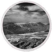 Round Beach Towel featuring the photograph 135764 Presidential Range Nh Infrared by Ed Cooper Photography