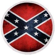 Confederate Flag 13 Round Beach Towel