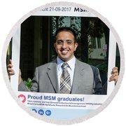 Msm Graduation Ceremony 2017 Round Beach Towel