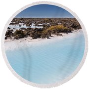 Silica Deposits In Water By The Round Beach Towel