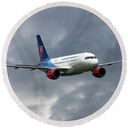 Slovak Government Flying Service Airbus A319-115 Round Beach Towel