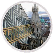 St Stephens Cathedral Vienna Round Beach Towel
