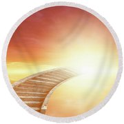 Round Beach Towel featuring the photograph Stairway To Heaven by Les Cunliffe