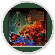 1478 Even Columbus Sailed Along The Wild Atlantic Way. Round Beach Towel