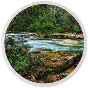 Round Beach Towel featuring the photograph Back Fork Of Elk River by Thomas R Fletcher