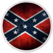 Confederate Flag 21 Round Beach Towel