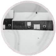 Round Beach Towel featuring the photograph Down East Maine  by Trace Kittrell