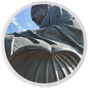 1590-tian Tan Buddha Round Beach Towel