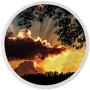 Appalachian Sunset Round Beach Towel