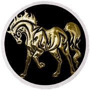 Horse Collection Round Beach Towel