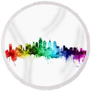 Philadelphia Pennsylvania Skyline Round Beach Towel