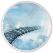 Round Beach Towel featuring the digital art Stairway To Heaven by Les Cunliffe