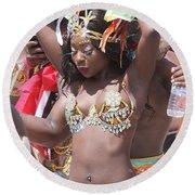Toronto Caribbean Festival Round Beach Towel