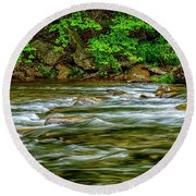 Williams River Spring Round Beach Towel
