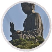1652-tian Tan Buddha Round Beach Towel