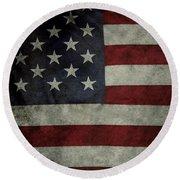 American Flag 62 Round Beach Towel