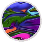 1691 Abstract Thought Round Beach Towel