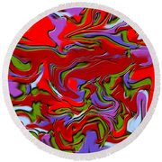 1695 Abstract Thought Round Beach Towel