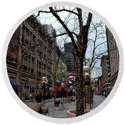 16th Street Mall Round Beach Towel