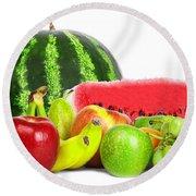 Fruit Round Beach Towel