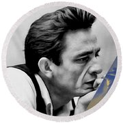 Johnny Cash Collection Round Beach Towel