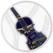 Violin Collection Round Beach Towel