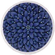 Round Beach Towel featuring the ceramic art #1701 by Kym Nicolas