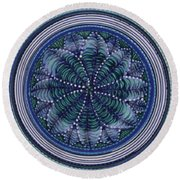 Round Beach Towel featuring the ceramic art #1702 by Kym Nicolas