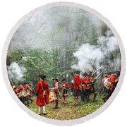 1763 Bushy Run British Counterattack Round Beach Towel