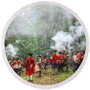 1763 Bushy Run British Counterattack Round Beach Towel by Randy Steele