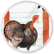 Cover Of Country Gentleman Agricultural Round Beach Towel