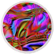 1783 Abstract Thought Round Beach Towel