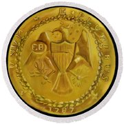 1787 Brasher Doubloon Round Beach Towel