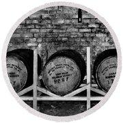 1787 Whiskey Barrels Round Beach Towel