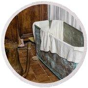 17th Century Bathroom Round Beach Towel