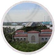 17th Street Bridge, Vero Beach, Fl Round Beach Towel