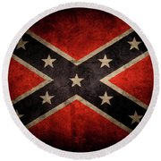 Confederate Flag Round Beach Towel