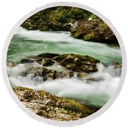 The Soteska Vintgar Gorge Round Beach Towel